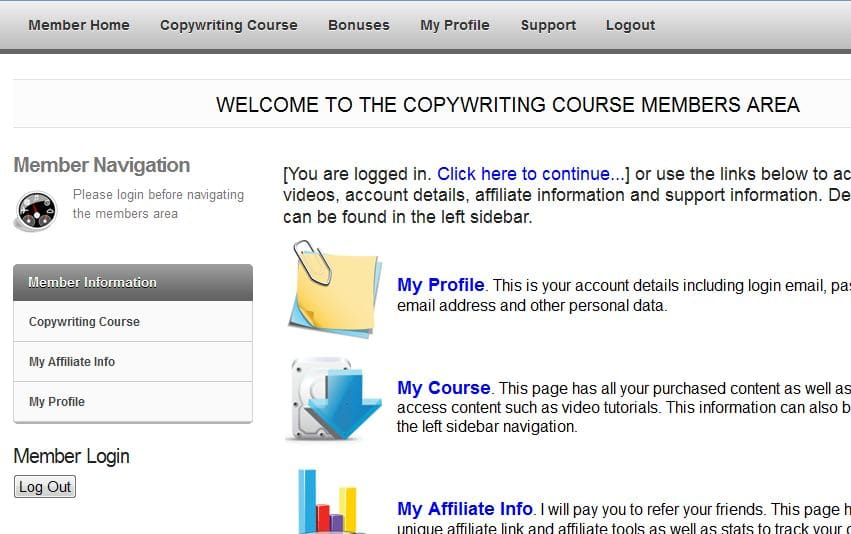 Step-by-Step Copywriting Course Members Area