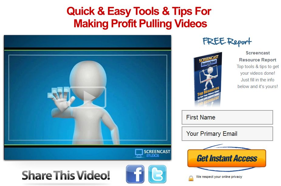 Screencast Studios Free Report