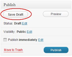 Saving WordPress Drafts