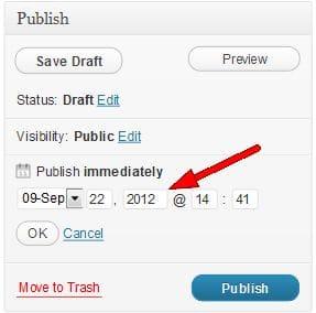 Scheduling WordPress Posts