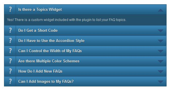 sugar faqs plugin