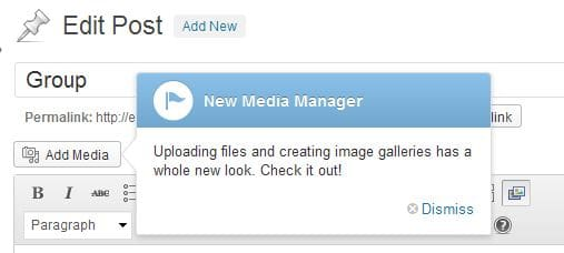 WordPress 3.5 Media Manager