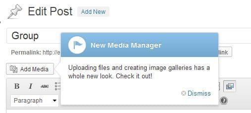 WordPress 3.5 Media Manager