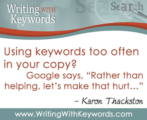 Writing With Keywords by Karon Thackston